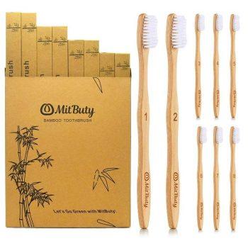 8 Zahnbürsten aus Bambus